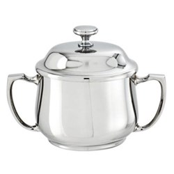 Sugar bowl with cover and handles 26cl