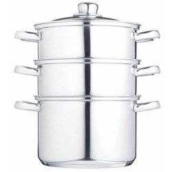 Steamer set 3 tier, 22cm, stainless steel