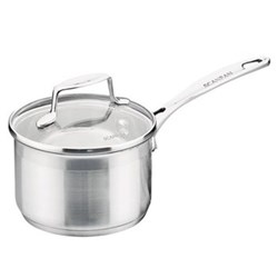 Impact Saucepan with glass lid, 18cm, stainless steel