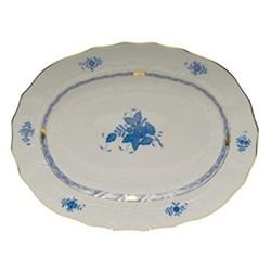 Apponyi Oval platter, 36.5cm, blue