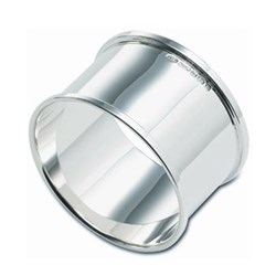 Round napkin ring, sterling silver