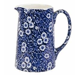 Calico Tankard jug large, 1.1 litre - 2pt, blue