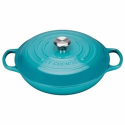 Signature Cast Iron Shallow casserole, 30 x 6cm - 3.2 litre, teal