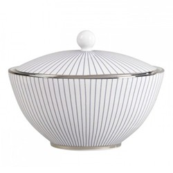 Pin Stripe Covered sugar bowl