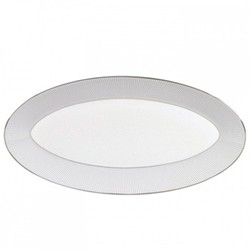 Pin Stripe Oval platter, 39 x 21.5cm