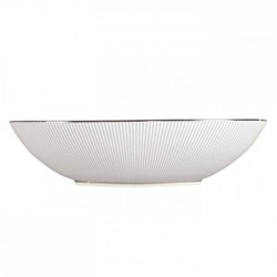 Pin Stripe Oval open serving dish, 30.5 x 7cm