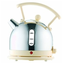 Dome - 72702 Kettle, 1.7 litre, polished stainless steel with cream trim
