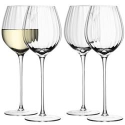 Aurelia Set of 4 white wine glasses, 43cl, clear/straight optic