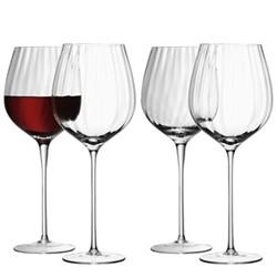 Aurelia Set of 4 red wine glasses, 0.66 litre, clear/straight optic