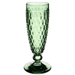 Boston Coloured Champagne glass, 16.3cm, green