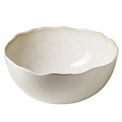 Plume Pair of bowls, 15cm, white pearl