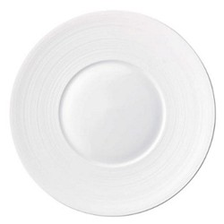 Hemisphere Flat dish with rim, 39.5cm, white