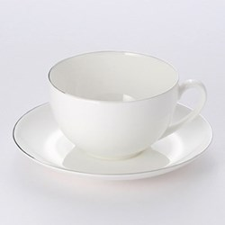 Platin Line - Classic Tea/coffee cup, 25cl, white bone china