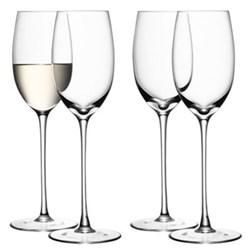 Wine Set of 4 white wine glasses, 34cl, clear