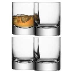 Bar Set of 4 tumblers, 25cl, clear
