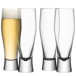 Bar Set of 4 lager glasses, 40cl, clear