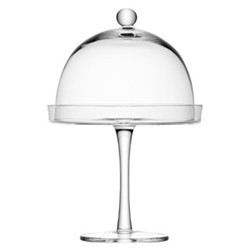 Vienna Cakestand and dome, 23/20.5cm, clear
