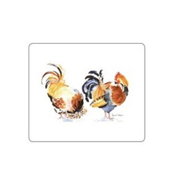 Melamine Range - Chicken Groups Set of 6 tablemats, 24 x 20cm, white