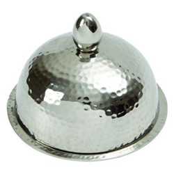 Domed butter dish with glass insert large