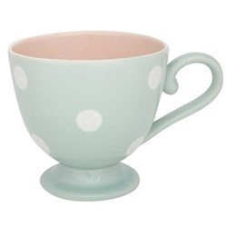 White Spot Large mug, 400mil/10cm, blue