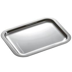 Albi Rectangular tray, 20 x 16cm, Christofle silver
