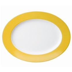 Sunny Day Oval platter, 33cm, yellow
