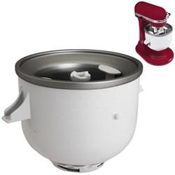 Ice cream maker attachment for mixer