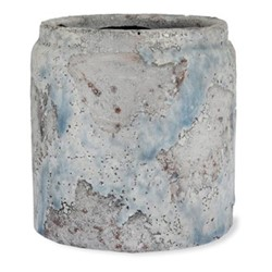 Withington Plant pot, 10 x 11.5 x 11.5cm, mottled blue / grey tones