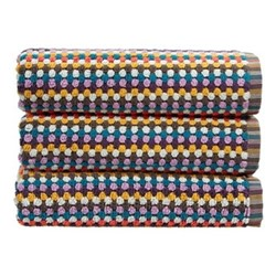 Carnaby Stripe Pair of bath sheets, L90 x W165cm, multi