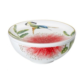Amazonia Gifts Decorative container, D11cm, bone porcelain