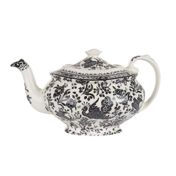 Regal Peacock Teapot, large, black