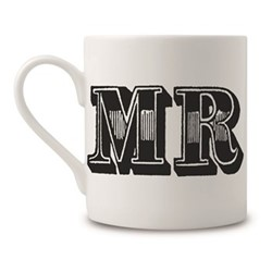 Mr Mug, H9 x Dia 8cm, black/white