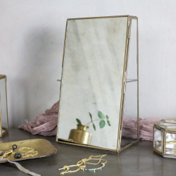Bequai Mirror cabinet, 31.5 x 18 x 10.5cm, antique brass