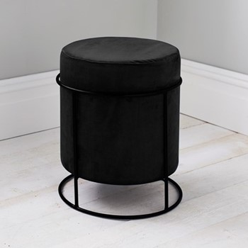 Stack stool, L37 x W37 x D45cm, black