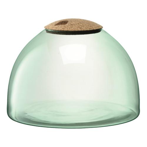 Canopy Garden terrarium, H22 x W31cm, recycled glass and cork