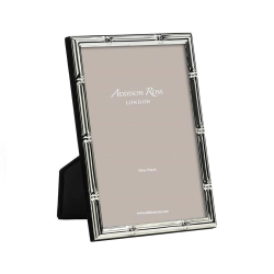 """Bamboo Photograph frame, 5 x 7"""" with 10mm border, Silver Plate"""