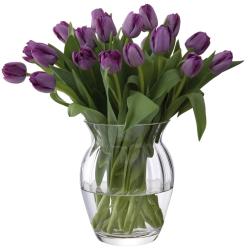 Florabundance Tulip vase, H18.5cm, Clear