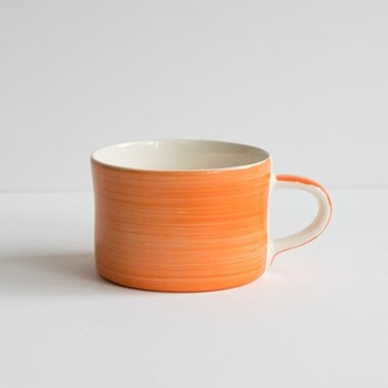 Plain Wash Set of 6 mugs, H7 x W10.5cm, tangerine