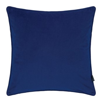 Velvet cushion, W45 x L45cm, navy