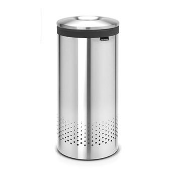 Laundry bin, 35 litre, matt steel