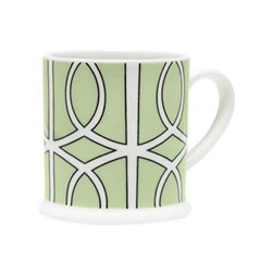 Loop Espresso cup, 6.6 x 6.1cm, apple green/white