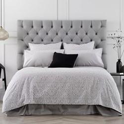 Tassoni Double quilt cover and pillowcase set, 200 x 200cm, dove