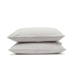 Luxe Bedding Pair of housewife pillowcases, 50 x 75cm, dove