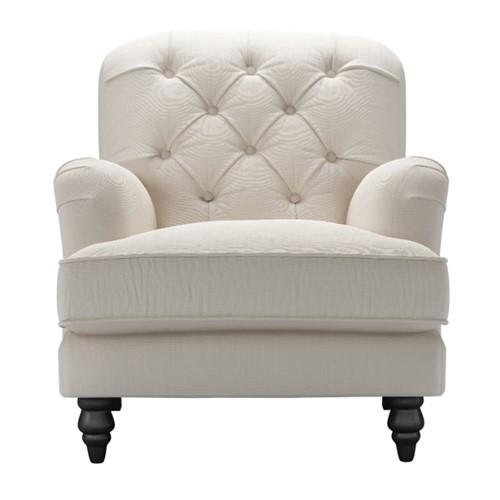 Snowdrop Button Armchair, H88 x W88 x D96cm, Taupe