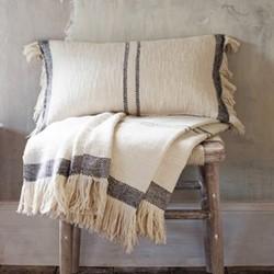 Cotton hand woven cushion 30 x 50cm