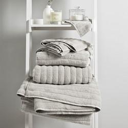 Rib Hydro Cotton Bath towel, 70 x 125cm, platinum
