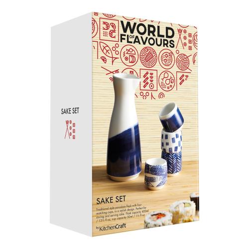 World of Flavours - Oriental Sake set, H18 x W7.3 x D7.3cm - 400ml