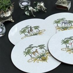 Out of Africa Set of 4 table mats, 25.5cm