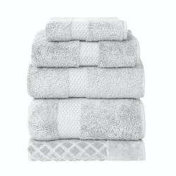 Etoile Shower towel, 70 x 140cm, Silver