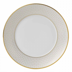 Arris Side plate, 17cm, White With Gold Band